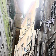 """photo """"lanes called carrugi"""""""