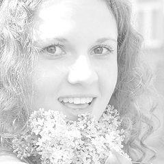 """фото """"Воздушная незнакомка с цветами сирени"""""""