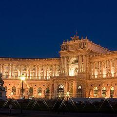 """photo """"Palace Hofburg at night"""""""