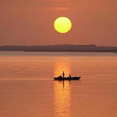 """фото """"Sunset fishing...."""""""