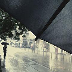 "photo ""My blue umbrella"""