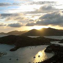 """фото """"Sunset in the English Harbour"""""""