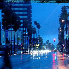 "фото ""Rain in Los Angeles"""