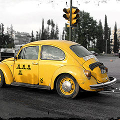 "photo ""We all live in yellow little car"""