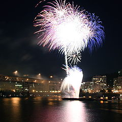 """фото """"Fireworks over waterfront"""""""
