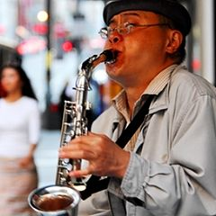 "фото ""San Francisco Street Artists - Chen Wei on the Saxophone"""