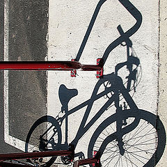 "photo ""Bicycle's shadows"""