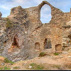 "photo ""Koknese's castle ruins"""