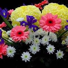 """photo """"i like flowers and women !!!"""""""