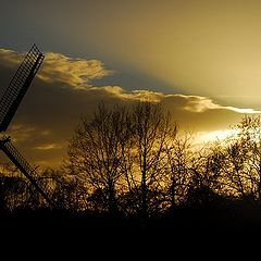 "photo ""wind mill  in the sunset"""