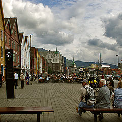 "photo ""Bergen-town tourists"""