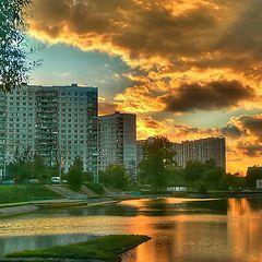 """фото """"Закат,Солнцевский пруд"""""""