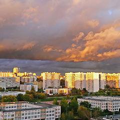 """фото """"Грозовой фронт на закате"""""""