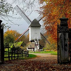 "photo ""the wind mill of Bokrijk Genk"""