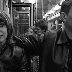 """photo """"In a tram."""""""