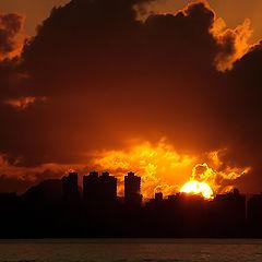 """photo """"Sunrise in Fire"""""""