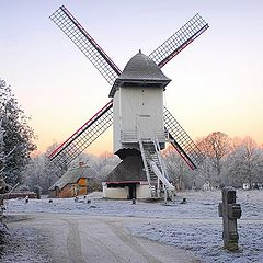 "photo ""wind mill in the winter !"""