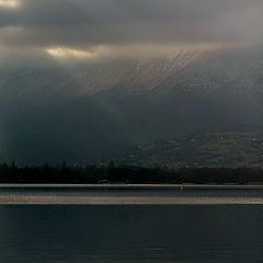 "фото ""Evening light before a snow fall"""