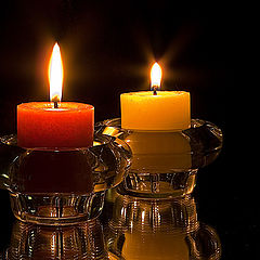 """photo """"Two candles"""""""