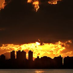 """photo """"Sunrise in Fire #2"""""""