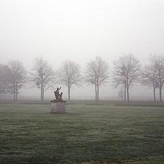 "фото ""Туман в парке Hampton Court (UK)"""