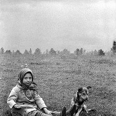 """photo """"Devochka with pawl ( original )"""""""