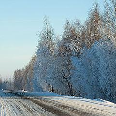 "фото ""Зимнее шоссе.."""