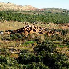 "photo ""Berber village in the high Atlas in Morocco:"""