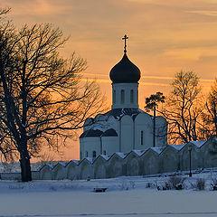 """photo """"Church at sunset"""""""