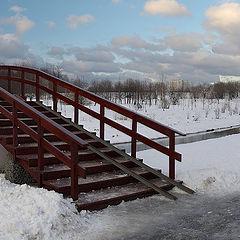 "photo ""Yauza. February. Bridge. Conversation."""