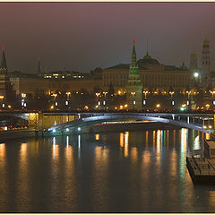 "photo ""Night Moscow. On merge of two rivers"""