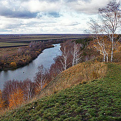 "photo ""View of the Ishim River in rugged ridge. Repost"""