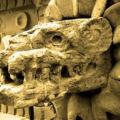 """photo """"Feathered serpent of Teotihuacan, Mexico"""""""