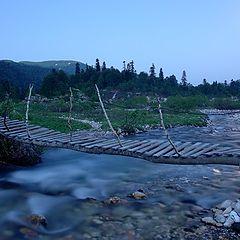 "photo ""The bridge through small river"""