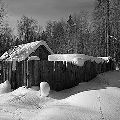 """фото """"Избушка в снегу"""""""