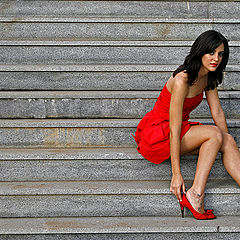 """photo """"The Woman in Red"""""""