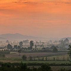 """фото """"Панорама про туманное утро..."""""""