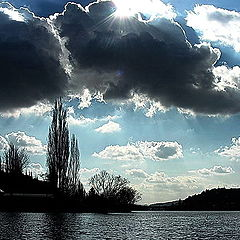 """фото """"Влтава а облака"""""""