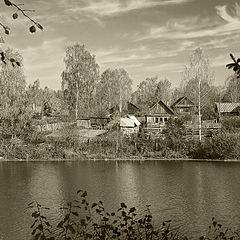 """фото """"Осенняя деревенька"""""""