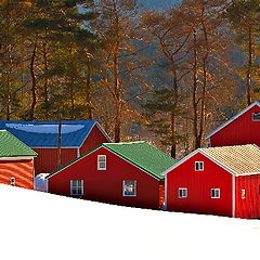 """photo """"Little Red Barns"""""""