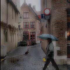 """фото """"Дождливый вечер в Брюгге"""""""
