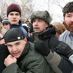 "photo ""Bogatyri from russian wall."""