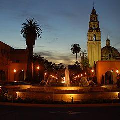 """фото """"Вечерние контуры Сан Диего"""""""