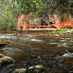 "photo ""River of red rocks"""