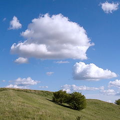 "photo ""Clouds over a hill"""