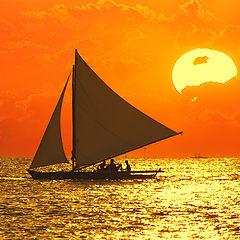 "фото ""Тихоокеанский закат"""