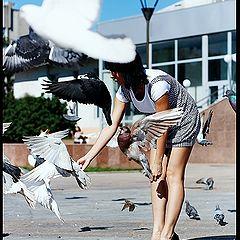 """фото """"завтрак голубей или Татьяна"""""""