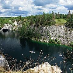 "photo ""Karelia. Flooded Marble Mines in Ruskeala"""