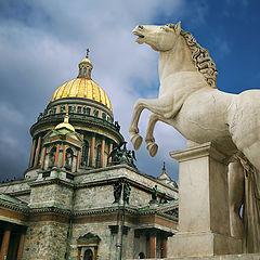 "фото ""Конь у Исаакия"""