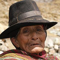 "фото ""A nomad Chola (local woman), Tapush Punta, Huayhuash Trek"""